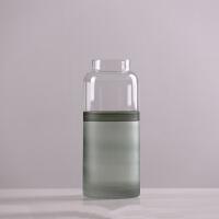 现代创意花瓶玻璃摆件客厅插花干花百合花瓶客厅餐桌水培花瓶装饰 D款2113 高31.6cm