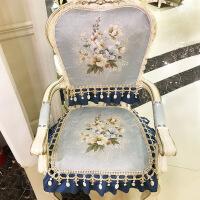 欧式餐桌带扶手椅子坐垫套罩靠背椅套椅垫圆形凳子垫四季垫子定制 扶手款