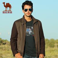 【领券满399减200】骆驼男装  新款夹克 男士休闲立领夹克外套
