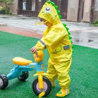 儿童连体雨衣恐龙造型男童女童宝宝幼儿园大帽檐雨裤雨披