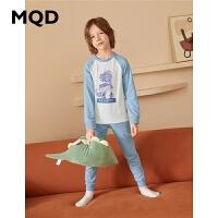 MQD童装男童家居服2020秋冬新款中大童儿童套装两件套睡衣舒适服