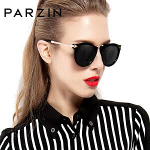 帕森太阳镜女士 大框圆脸时尚复古女士潮流驾驶偏光镜墨镜女