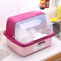 20190702030901141新品塑料碗柜厨房放碗架沥水架带盖箱碗碟架碗筷餐具盘子收纳盒置物架