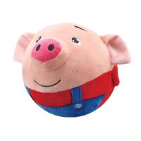 【跨店每满100减50】益智玩具 智力开发 海草猪跳跳球面包超人 USB充电 唱歌 录音 学说话的电动毛绒公仔 120