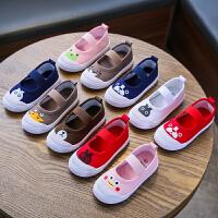 幼儿园小白鞋学生童鞋帆布鞋白球鞋儿童室内鞋男童女童软底运动鞋