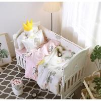 婴儿床上用品婴儿床围四件套床靠床单被罩枕套宝宝床上用品四季通用可定做ZQ-YS017