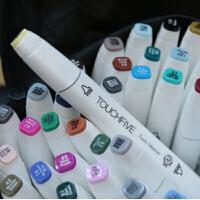 Touch liit五代双头油性酒精马克笔5代60色常用色套装 送大礼 优越品质