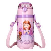 迪士尼儿童保温杯带吸管宝宝不锈钢防摔水壶学生卡通水杯440ml