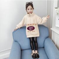 2019秋冬季新款儿童韩版洋气女孩套头衫保暖上衣女童加绒加厚卫衣