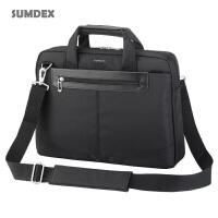 笔记本电脑包-美国森泰斯(SUMDEX)14寸笔记本包,通行者简约电脑公事包,单肩手提电脑包PON-326VT(紫色)