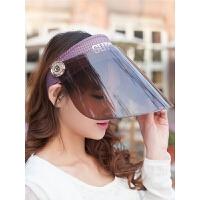 女士遮阳帽防紫外线太阳帽防晒帽电动车遮脸凉帽夏天