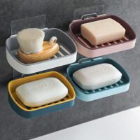 肥皂盒架子沥水卫生间创意免打孔洗衣肥皂盒双层吸盘壁挂式香皂盒
