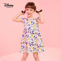 【3折券后价:42.9元】迪士尼女童连衣裙2021夏季新款儿童宝宝奇趣总动员女童针织连衣裙