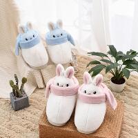 卡通棉拖鞋女包跟家居室内舒适保暖厚底可爱月子棉鞋女冬