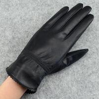 冬女士皮手套 秋冬季保暖防寒 女式薄/加厚绵羊皮骑行手套