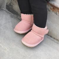 婴童装儿童女童靴子秋冬短靴加绒保暖男小童宝宝雪地靴防滑辰辰妈