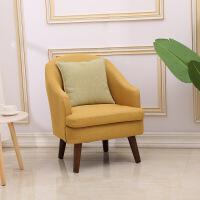 懒人沙发单人小户型北欧现代简约懒人沙发椅阳台客厅小户型卧室小沙发单人迷你沙发 1011黄色 全拆洗