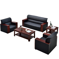 办公沙发简约现代办公室沙发茶几组合商务接待会客单人三人位