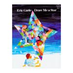 凯迪克图书专营店美国进口艾瑞卡尔大师作品 Draw Me a Star 画个星星给我生命真是奇妙的恩典平装英文原版绘本