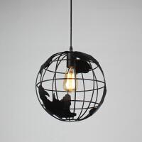 北欧咖啡厅铁艺吊灯 艺术卧室餐厅吊灯创意客厅吊灯地球仪吊灯
