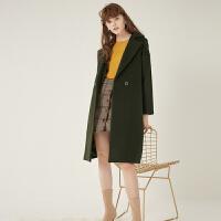 【11.08-11.13 遇见11.11 到手价:158元】ONE MORE两件套羊毛大衣女毛呢外套