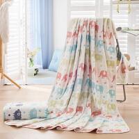 纯棉五层纱布单双人毛巾被 全棉成人婴儿童幼儿园空调浴巾盖毯空调被夏凉被