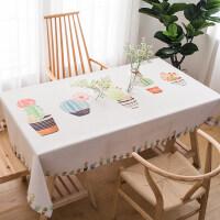 北欧风格ins茶几方桌桌布棉麻小清新长方形台布餐桌布艺现代简约
