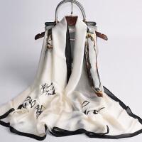 杭州丝绸薄款丝巾女百搭围巾防晒披肩沙滩夏季夏天轻薄妈妈款纱巾