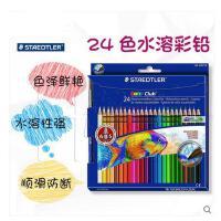 德国施德楼水溶彩铅 14410NC24/24色水溶性彩色铅笔涂色彩笔