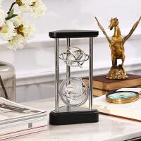 家居饰品客厅摆件 欧式书桌装饰品 三角形摆件 创意时钟