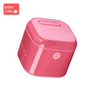 babycare奶瓶消毒器带烘干器多功能紫外线消毒锅儿童消毒柜不锈钢机身 浅嗬绿-单灯管