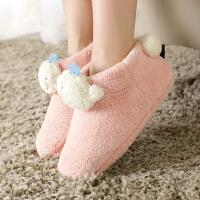 月子鞋产后冬季保暖软底包跟棉鞋女 情侣可爱卡通家居家用棉拖鞋