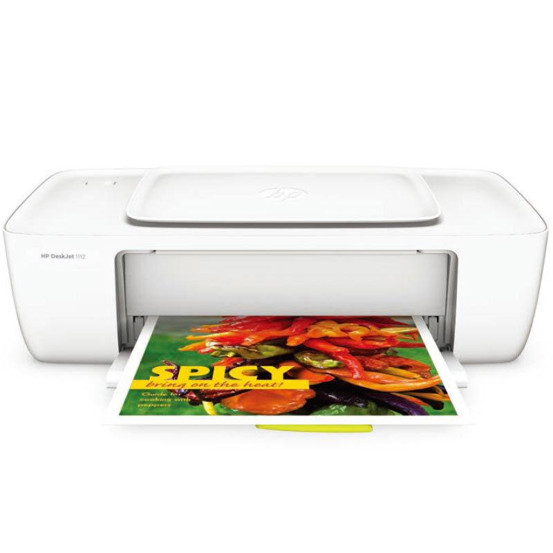 惠普(HP) Deskjet 1112彩色喷墨打印机 HP1112家用彩色喷墨打印机 惠普1112家用打印机 替代 惠普1010彩色打印机 时尚白色机身 白色磨砂外观hp新品上市 时尚白色机身 使用803系列墨盒