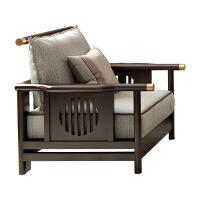 【品质推荐】新中式实木沙发现代简约新中式沙发现代简约古典轻奢客厅禅意中式家具实木新中式客厅布艺沙 组合