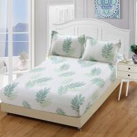儿童床笠单件卡通纯棉可爱全棉床垫套1.8m床防尘保护套1.2米床罩 白色 宛如初见