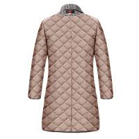 加棉韩版冬装女大码格子西装中长款风衣中年女装宽松加厚毛呢外套