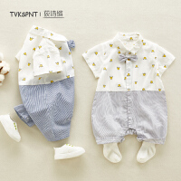 男宝宝连体衣可爱薄款0-3月宝宝外出服夏季婴儿夏装衣服