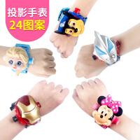 儿童幼儿汽车钢铁侠玩具手表小猪女孩投影电子手表