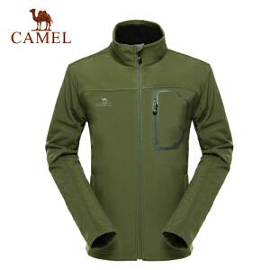 camel骆驼户外软壳衣 男款 休闲外套 防风抓绒软壳衣