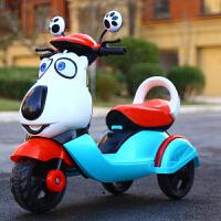 电动脚踏车儿童儿童电动摩托车大号三轮车脚踏车电瓶玩具车充电可坐男女宝宝童车QL-74