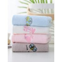 4条装 莱朵纯棉儿童小毛巾家用洗脸巾童巾宝宝可爱柔软吸水不掉毛