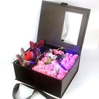 高档玫瑰花束香皂花礼盒送老婆女友生日礼物放礼物的盒子创意