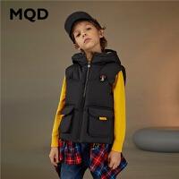 MQD童装男童轻薄羽绒服2020冬装新款儿童马甲大口袋多色保暖上衣