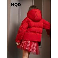 MQD童装女童羽绒服2019冬季新款儿童连帽短款羽绒服保暖面包服潮