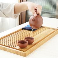 唐丰长方形竹制茶盘客厅办公蓄排两用茶托现代简约茶海功夫茶台