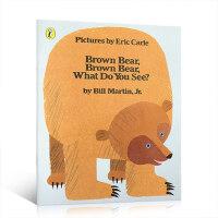 进口英文原版正版 Brown Bear, Brown Bear, What Do You See?  棕熊,你看到了什么?Eric Carle 艾瑞卡尔爷爷经典绘本大开本平装 儿童英语启蒙 送音频