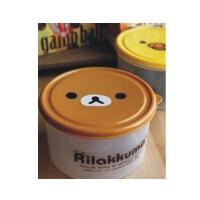 日照鑫 日本Rilakkuma轻松熊 饭盒便当盒收纳盒保鲜盒 一套装