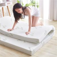 高密度海绵床垫褥1.5.8m.2米加厚单双人学生宿舍记忆超软仿乳胶棉定制 针织竹青外罩 【加硬款】4cm厚