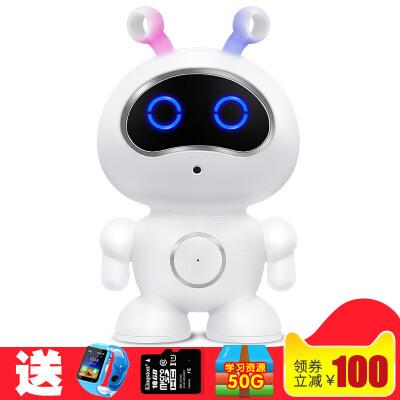 20181114145757909儿童智能机器人玩具语音对话高科技小男女孩家用版教育学习早教机  送 智能手表+16G内存卡+读卡器+麦克风+50G