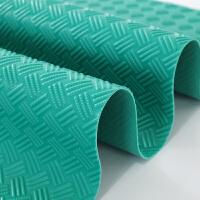 PVC垫橡胶塑料地板耐磨户外进门口地胶家用满铺 环保绿 3MM牛筋撕不烂 【凸起条纹防滑】
